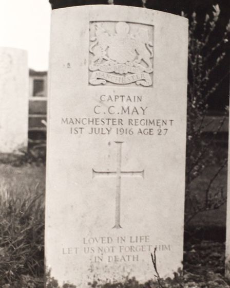 The grave of Charlie May, who was killed at the Battle of the Somme. Picture: Gerry Harrison/Redbrid