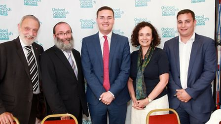 Speakers at the Anti-Semitism: Should We Be Concerned? event at the Chabad Lubavitch synagogue in Wo