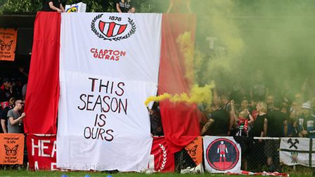 Clapton's fans show their support at the Old Spotted Dog (pic: Tim Edwards)
