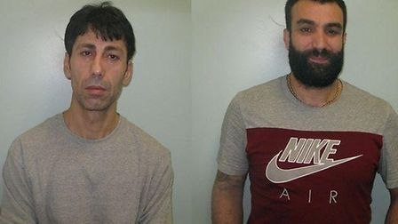 Remzi Akguc, left, and Yilmaz Coskun, who were both found guilty of murder for the 'cold blooded exe