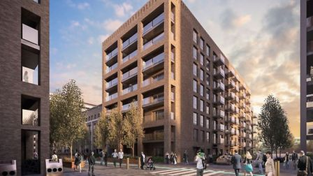 Computer-generated images of how the Boleyn development will look