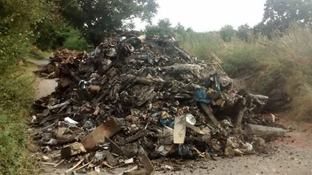 More rubbish has been dumped at Little Gerpins Lane over the weekend
