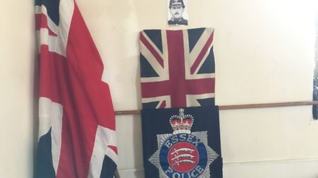 A memorial plaque to murdered Pc George Gutteridge was unveiled at the St Mary the Virgin Church, St