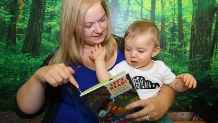 Book event for babies called stories, rhymes and songs at South Woodford Library this week. Max Reev
