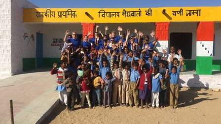 15 cadets travelled to India in February 2016 to refurbish a deprived school in the middle of the Th