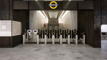 A preview of how the interior of Barking Riverside's Overground is set to look Picture: Moxon Archit