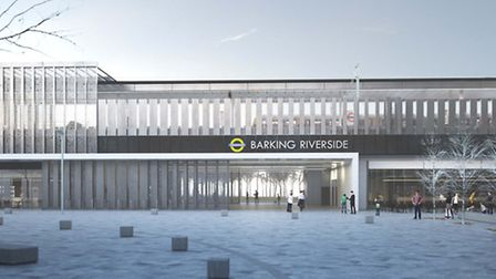 A computer-generated image of the Barking Riverside London Overground station Picture: Moxton Archit