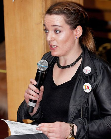 Louise speaking at the Disability Federation of Ireland. Photo by Paul Sherwood.