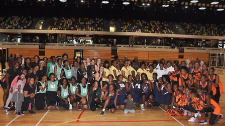All competitors from the Potters House netball event (pic: Cathia Stewart)