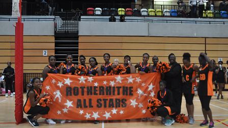 Rotherhithe All Stars finished second at the Potters House netball event (pic: Cathia Stewart)