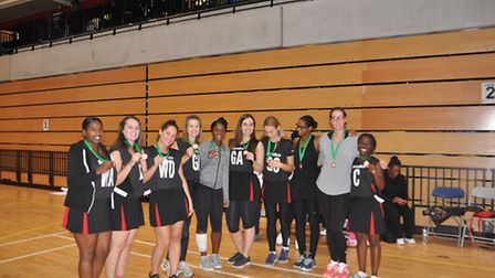 Waltham Forest Dashers finished third at the Potters House netball event (pic: Cathia Stewart)