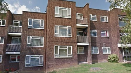 The modernist flats in Malcolm Way, Wanstead. Developers want to build an extra flat on each of the