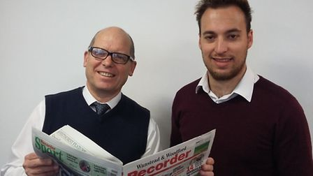 Wanstead and Woodford Recorder editor Chris Carter and chief reporter Ralph Blackburn.