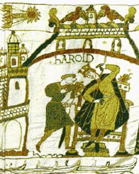 A scene of Harold from the Bayeux Tapestry. Picture: PA