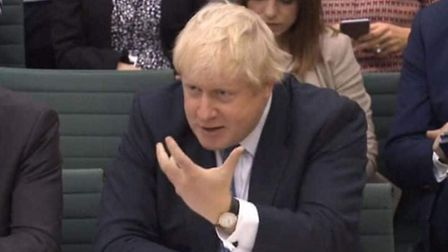 Boris Johnson was left puzzled when questioned at the Foreign Affairs committee. Picture: PA Wire.