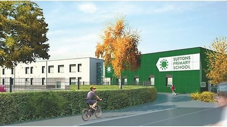 An artist's impression of the new building for Suttons Primary School. The school's plans are set to