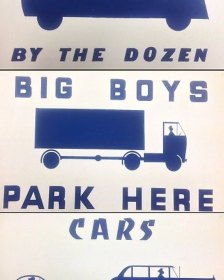 Rock and Roll venue: Original sign from the Blue Boar car park. PHOTO: Getty Images