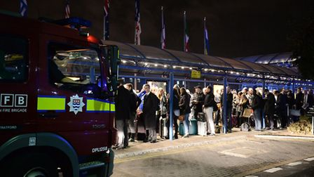 Emergency services outside London City Airport on Friday (Picture: Victoria Jones/PA Wire)