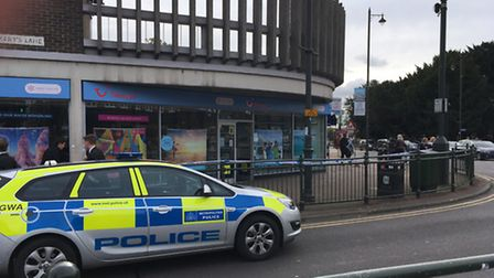 Police have cordoned off the scene