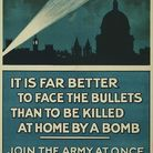 Inspirational war effort posters used the eerie image of the zeppelin - known as 'the baby-killer' -