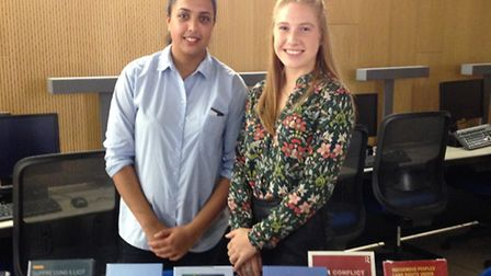 UEL post-graduate students Kiran Lehil and Coralie Barnes may be able to contribute towards TERC's r