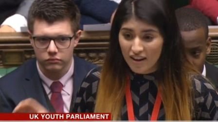 Saadia Sajid speaking at the House of Commons