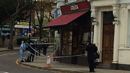 Police have sealed off the area around Costa, The Broadway, Woodford Green, after a stabbing took pl