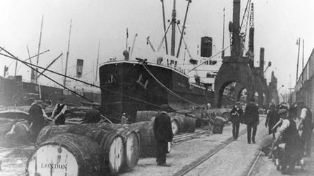 Royal Albert Dock in 1914 Picture: Newham Heritage
