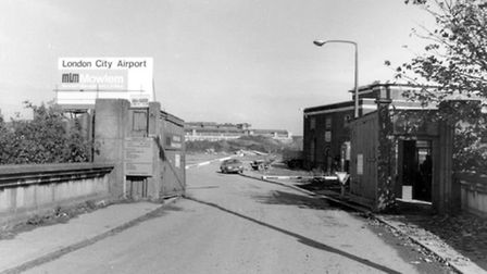 King George V Dock, no. 19 gate, the site of London City Airport in 1986 Picture: Newham