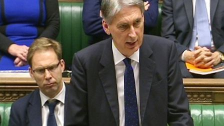 Chancellor Phillip Hammond making a statement in the House of Commons