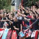 The Clapton fans support their team (pic: George Philipou/TGS Photo).