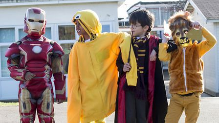 Nightingale pupils dressing up for World Book Day earlier this year. Seth, Sid and Daniel, all aged