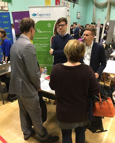 Former pupil Jack Downes returned to Coopers Coborn School with employer Cap Gemini at a Careers Con