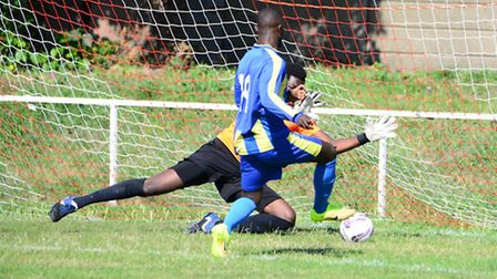 Fahad Nyanja netted a late winner for Clapton against Enfield (pic Tim Edwards)