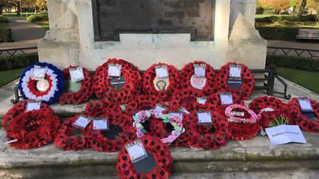 Wreaths laid at the East Ham cenotaph