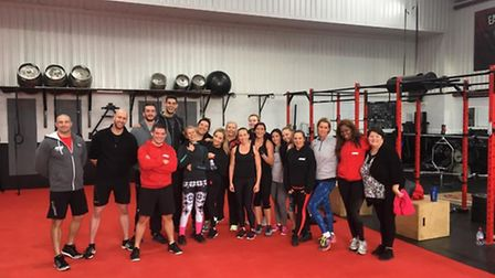 RAW Inc gym-goers raised £300 on the day for Help for Heroes.