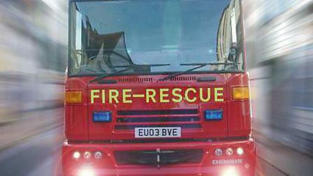 Firefighters were called to a van fire in Lowestoft