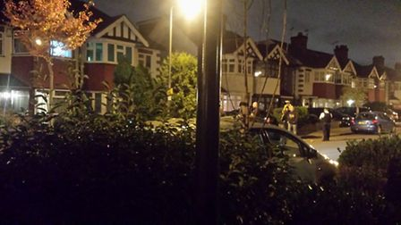 Armed police in Wanstead last night. Photo: Morgan Ritchie