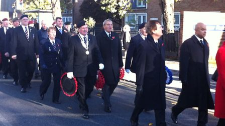 Remembrance Day service in East Ham, Newham last year