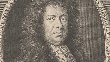 Portrait of Samuel Pepys by Robert White, after Sir Godfrey Kneller, Bt line engraving, published 16