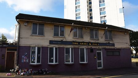 The Army & Navy Public House, where Edward Stokes was killed earlier in the year.