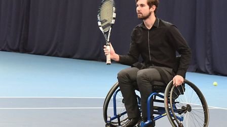 Archant reporter George Sessions tries his hand at wheelchair tennis at Lee Valley Hockey & Tennis C