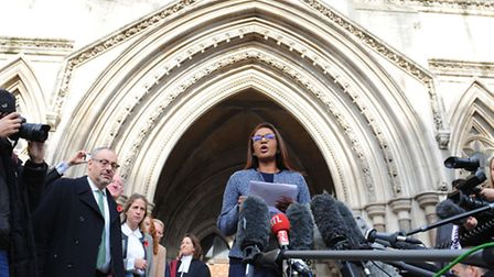 Gina Miller speaks to the media at the High Court in London where three judges have ruled against th
