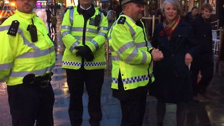 Sophie Linden, London's deputy mayor for Policing and Crime, joined Romford town officers on Friday.