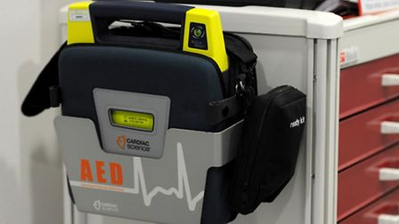 A defibrillator, Oakdale Junior School, in South Woodford, are installing one today for the whole co