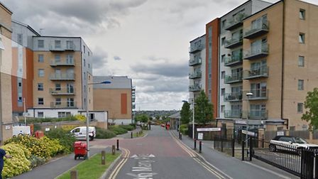 A second young man has been stabbed on the Queen Mary's Gate estate in two weeks. Photo: Google Maps