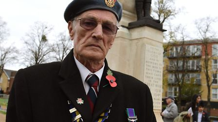 Ilford Service of Remembrance at the Ilford War Memorial Gardens. John Coombes