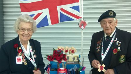 Francis and Cyril Allen have been selling poppies at Mercury Mall ahead of Remembrance Day
