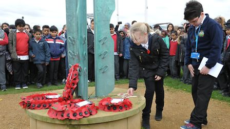 Remembrance day service at Fairlop waters