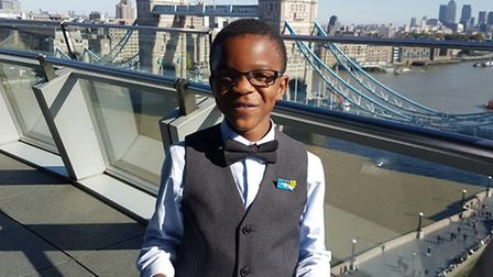 Nathan Oriakhi, eight, was awarded a four-year scholarship from the Mayors Music Fund for Young Lon